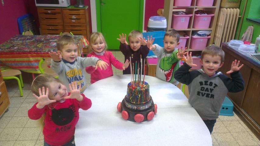 Gateau d'anniversaire pour ecole maternelle